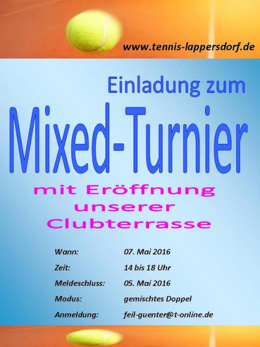 Einladung zum 1. Lappersdorfer Mixed-Turnier