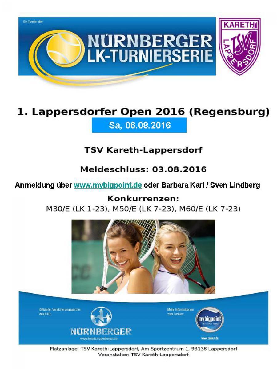 "Einladung ""1. Lappersdorfer Open"""
