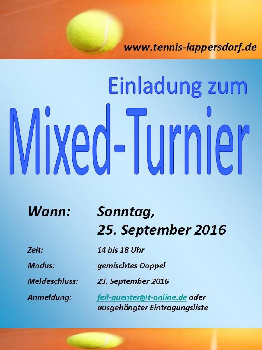 Mixed Turnier 2016